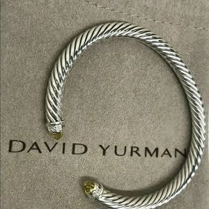 David Yurman Lemon Citrine & Diamond Bracelet Cuff